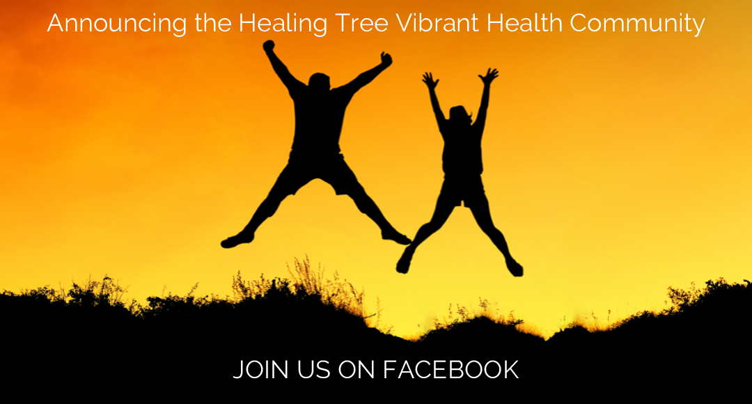Healing Tree Vibrant Health Community Invitation Graphic