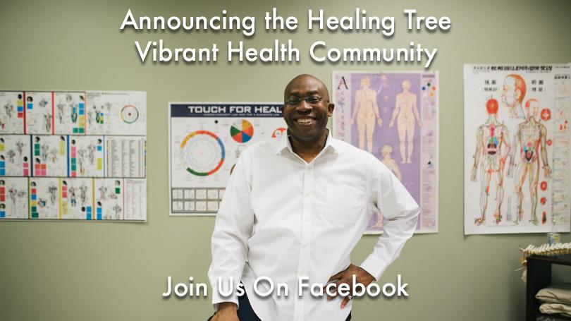 Healing Tree Vibrant Health Community Invitation Graphic